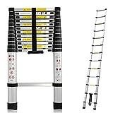 Escalera telescópica ligera, extensible y plegable para bricolaje, construcción de viviendas, áticos, loft, lugar de trabajo, de 150kg,13peldaños y