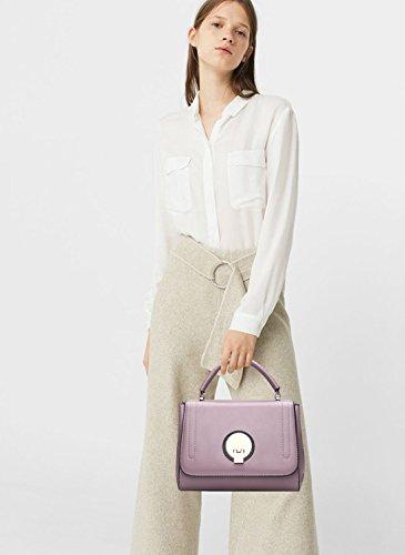 NICOLE&DORIS Elegant Stilvoll Bucket Bag Damen Handtaschen Tote Umhängetasche Crossbody Bag Schultertaschen Henkeltaschen Klein Tasche PU Rosa Rosa