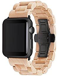 Accesorios Wearables Woodcessories EcoStrap Apple Watch Band 42mm, maple negro