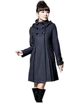 Partiss Mujer Moda Invierno Largo Abrigo con capucha Outwear