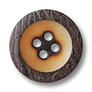 Button Paradise Sewing Buttons - Set of 5 Bavarian Buttons made of Corozo/Corozonut! Ø approx. 0.79