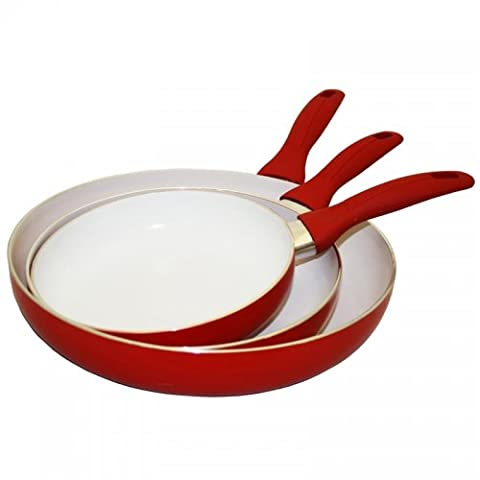 Concord Cookware CN300 3-Piece Eco Friendly Ceramic Nonstick Fry Pan Set