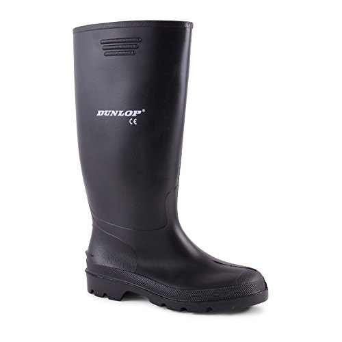mens-dunlop-black-wellies-wellington-welly-rain-boots-size-9
