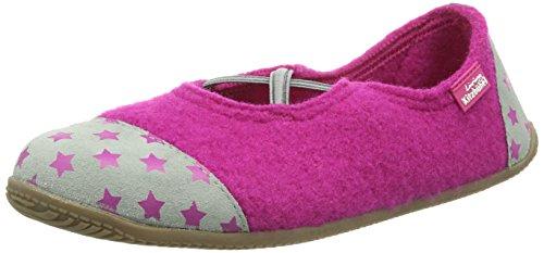 Living Kitzbühel Kreuzgummi & Sterne Damen Flache Hausschuhe Pink (fuchsia 368) H0oXn4l