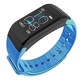 Slri Smart Armband Fitness Tracker Pulsmesser Schrittzähler Call Reminder Band - Blau