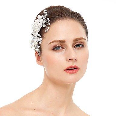 Zormey Femme Dentelle Strass Perle d'imitation Headpiece-wedding Sabots Cheveux occasion spéciale 1pièce