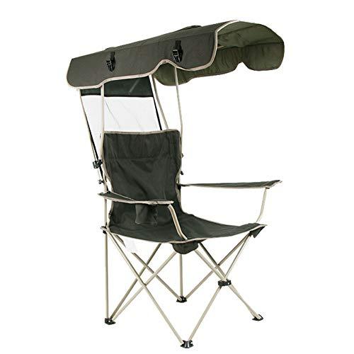 Outdoor tragbare Freizeit Sonnenschirm Klappstuhl, Angeln Strandkorb, mit Getränkehalter, hochfeste Oxford Tuch, langlebig robust, für Garten Camping Reisen