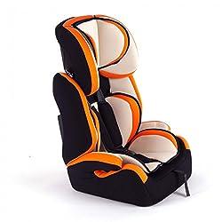 Baby Vivo Kinderautositz Autokindersitz Autositz Kindersitz TOM von 9-36 kg für Gruppe 1+2+3 mitwachsend ab 15 Monaten bis 12 Jahre in Orange/Creme