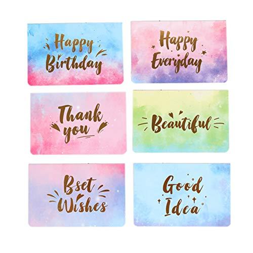 Bontand 10Pcs Aquarell Folding Mitteilungs-Karte Gruß-Karten-Postkarte Geburtstags-Geschenk-Mitteilung Karten Art Zufall - Ihnen Kinder Personalisierte Karten Danken