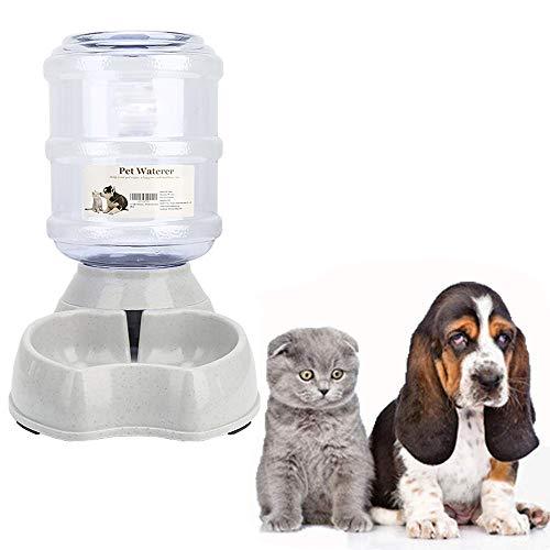 Meleg Otthon Automatischer Futterspender, Wassertränke für Haustiere,Hund Schüssel,Automatik Wasserspender für Hund Katze,3.8 L