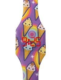 Reloj LED Digital chica, infantil y joven, de pulsera, correa de suave silicona, trendy regalo, helados, Kiddus KI10208
