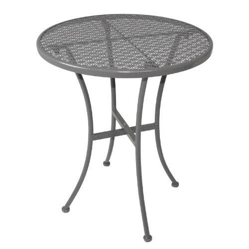 Bolero gg703Bistro tavolo rotondo in acciaio, motivo, colore: