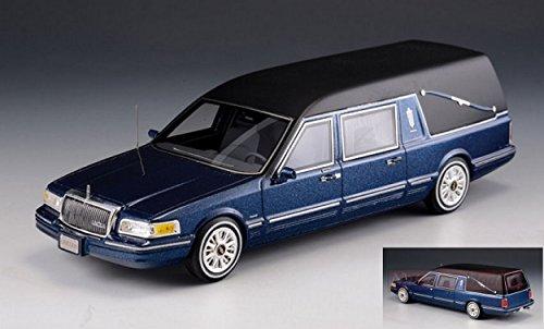 GLM MODELS GLM43102702 LINCOLN TOWN CAR S&S HEARSE DARK BLUE 1:43 DIE CAST MODEL