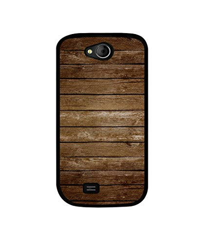 Casotec Wood Design Canvas Printed Soft TPU Back Case Cover for Micromax Canvas Elanza A93  available at amazon for Rs.349