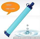 Zantec Purificatore d'acqua portatile con filtro,Personal Filtro Acqua, Outdoor Sopravvivenza di Emergenza Paglia per Sport Esterni Campeggio Trekking 800L Capacità