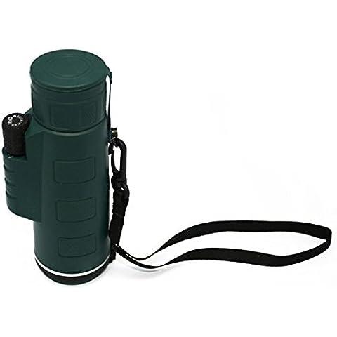Panda camping senderismo viajes 18 X 62 telescopio monocular portátil - verde