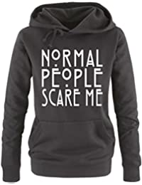Comedy Shirts - Normal People Scare Me - Damen Hoodie - Gr. S - XL Versch. Farben