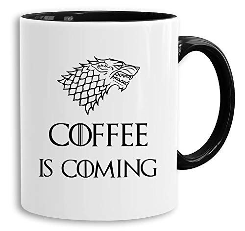 Coffee is Coming - vaso cafetera regalo Mug Targaryen
