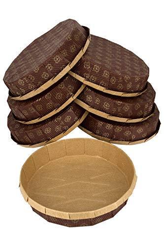 Petani Mini-Tartpfanne, 10 Mini-Pie-Pfformen, Braun für kleine Tortenkuchen, 7 x 1 Größe Einweg-Backformen von Petani - Kleine Pan Cupcake