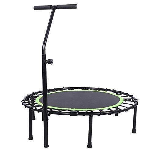 Bxxiu Trampoline de gymnastique trampoline miniature/Trampoline miniature Rebounder Trampoline de fitness pour enfant, trampoline pliant Home Sports, Soutien jusqu'à 300 lb,vert