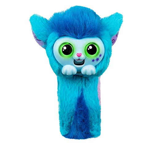 Dioxide Small Live Pets Wrapples Juguete, Juguetes Plush Interaction Monkey Wearable Little Live Lindos Pets Juguetes, Muñeca, Juguetes para Niños - Azul