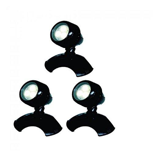 AquaForte Teich und Garten LED Lampen HP3-1, 3x 3 W, 12 V, schwarz