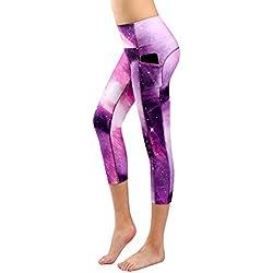 Munvot Mujer Leggins Estampados Pantalones Cómodos para Correr Fitness Yoga y Pilata M