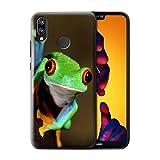 Stuff4® Hülle/Case für Huawei P20 Lite/Frosch Muster/Wilde Tiere Kollektion