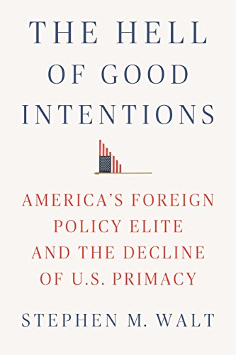 The Hell of Good Intentions: America's Foreign Policy Elite and the Decline of U.S. Primacy por Stephen M. Walt