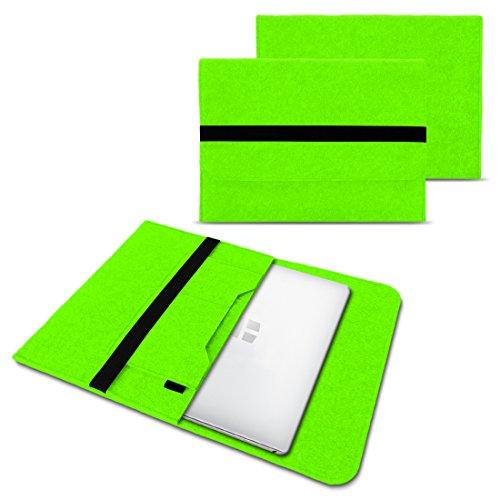 Trekstor Primebook C13 Notebook Sleeve Hülle Laptoptasche Schutzhülle 13,3 Zoll Laptop Filz Case, Farben:Grün