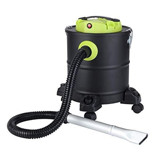 QLIMA ASZ 1020 Aspiracenere Filtro HEPA Nero Capacita 20 litri Potenza 1200 Watt