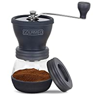 GOURMEO Manual Coffee Grinder, Professional Coffee Mill with the best Ceramic Burr, adjustable Burr for precision Grinding and perfect Brewing, Espresso Mill, Espresso Grinder