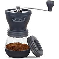 GOURMEO molinillo de café premium de diseño japonés con torno de cerámica | 2 años de garantía de satisfacción | cafetera expreso, molino de café manual, moler a mano, coffee grinder