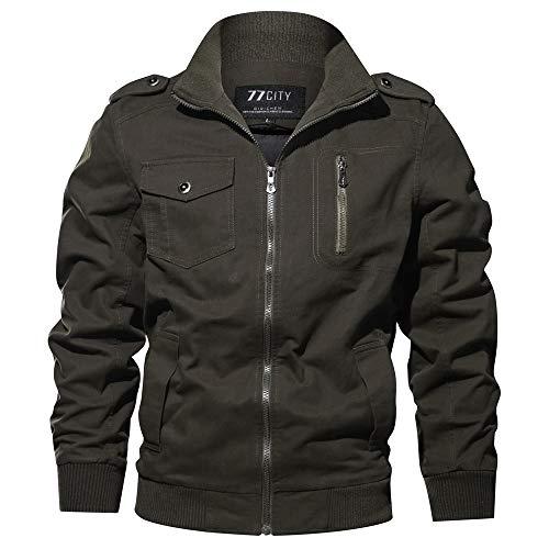 Preisvergleich Produktbild Mantel Herren, Herren Winter Military Clothing Reißverschlusstasche Taktischer Atmungsaktiver Mantel, Binggong Herren Mantel