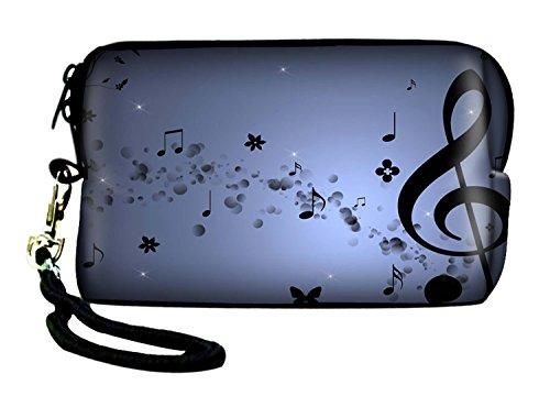Neues Design Digital Kamera Tasche Sleeve für Panasonic Lumix Serie, Nikon Coolpix Serie, Olympus VR Serie, Olympus IR Serie, Olympus FE Serie, Olympus mju Serie, Olympus X Serie, Canon IXUS Serie, Canon Powershot Serie, Casio Exilim Serie mit Handschlaufe. Olympus Casio Exilim