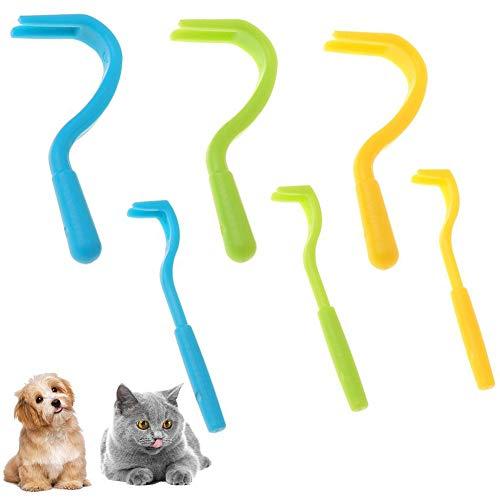 BETOY Tre Paia Easy toglizecche togli zecche ad uncino, Tick-off Tick Remover per Cani Gatti Cavalli Animali Persone,Utensile rimuovi zecche