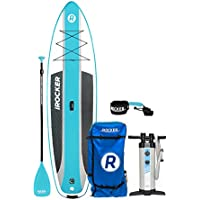"""iROCKER CRUISER Inflatable Stand Up Paddle Board 10'6"""" Long 33"""" Wide 6"""" Thick SUP Package"""
