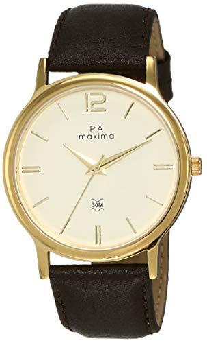 Maxima Analog White Dial Men's Watch-56064LMGY