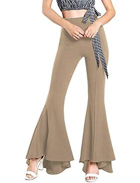 Yacun Mujeres Pantalones De Campana De Fondo Stretchy Pants Flare Slim