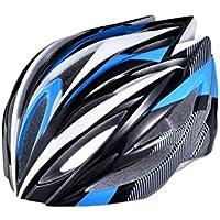EP-Helmet Casco De La Bici De Montaña, 21 Respiraderos, Código, con El Ajustador,Blue