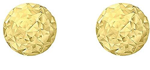 Carissima Gold Damen 9k (375) Gelbgold 5 mm Diamantschliff Ball Ohrstecker 1.55.8029