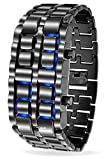Digital Diamond LED Blue Light Chain Watch for Boys and Girls