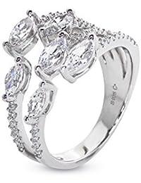 Carat London Gold Plated Sterling Silver Handcut Gemstones 'Medusa' Ring