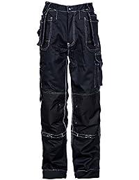 Estremo® - Pantalones cargo de trabajo para hombre - Resistentes y con numerosos bolsillos - Negro