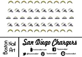 Nfl San Diego Chargers Waterslide Nail D...