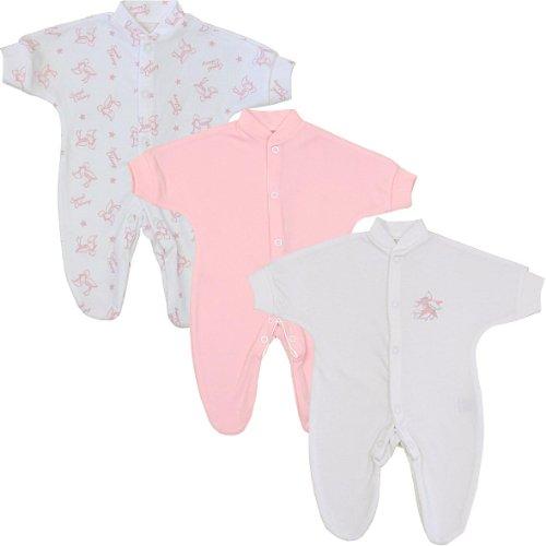 BabyPrem-Beb-Prematuro-3-x-Pijama-Mameluco-Ropa-de-Algodn-Rosa-Nias-0-50cm