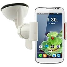 Emartbuy® Blanco Soporte para Coche de Pinzas con Ventosa y Giro de 360° para Salpicadero Parabrisas Universal y Apto para Cubot P9