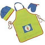 Tablier de cuisine en coton sergé avec toque et manique - Set cocina Clap Clap!