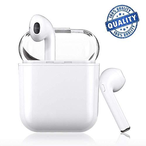 True Wireless Earbuds 4.2 Auricolari Bluetooth, Cuffie da Corsa da Uomo - Auricolari Bluetooth - Sport - Auricolari Wireless di qualità Professionale - Auricolari Bluetooth Portatili Esterni