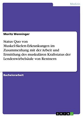Status Quo von Muskel-Skelett-Erkrankungen im Zusammenhang mit der ...
